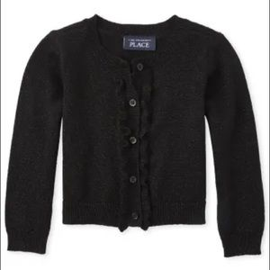 ✨3 for $30✨3T Girls Black Sparkly Cardigan Sweater